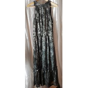 Gorgeous Michael Kors Metallic Tie Neck Dress